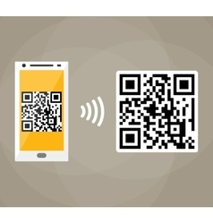 Qr code scanning by mobile phone vector