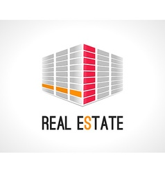 Real estate abstract design template realty icon vector