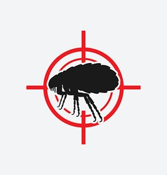 flea icon red target vector image