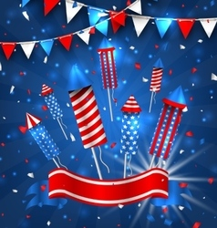 American Greeting Background for Independence Day vector image