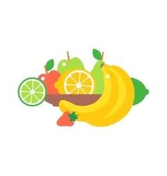 Fruit plate vector