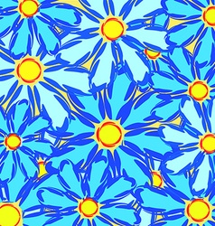 Abstract daisies vector image