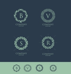 Alphabet letter monogram set vector