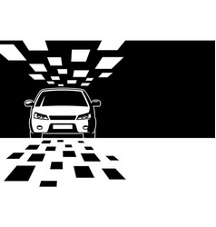 Black and white car silhouette with copy space vector