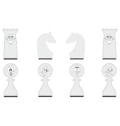 Cartoon chess set 04 vector