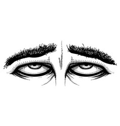 cartoon image of tired eyes vector image