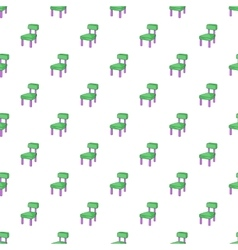 Chair pattern cartoon style vector image