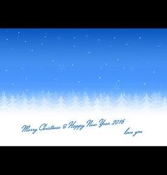 Christmas card love you vector