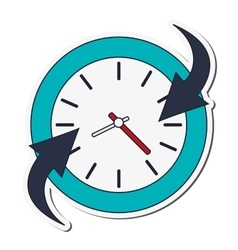 clock and arrow icon vector image