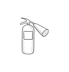 Fire extinguisher sketch icon vector image vector image