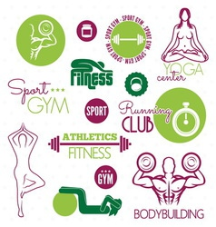 FITNES ICONE resize vector image vector image
