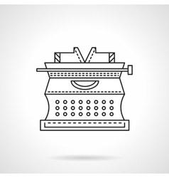 Flat line typewriter icon vector