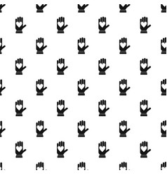 hand with heart pattern vector image vector image