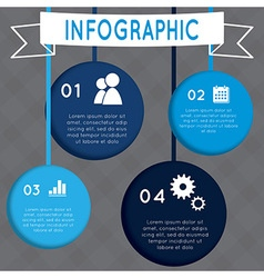 Infographic circular design on the grey background vector