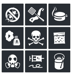 No insects icon collection vector