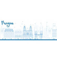 Prague outline vector