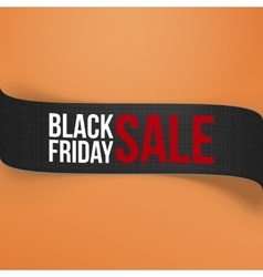 Realistic Black Friday Sale curved Paper Banner vector image