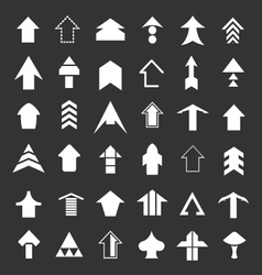Set icons of arrows vector image