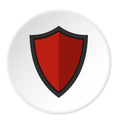 Shield for war icon circle vector
