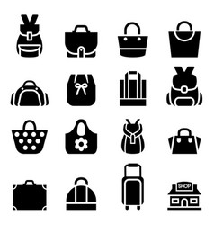 Silhouette shopping bag icon vector