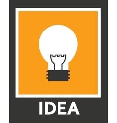 Simple stylish icon bulb electro design vector