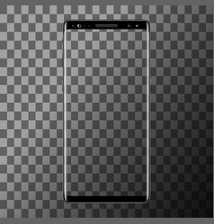 smartphone isolated on transparent background vector image vector image