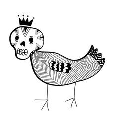 Strange doodle monster vector