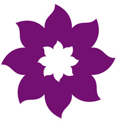 Thick contour violet with icon flower vector