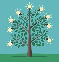 Tree of creative ideas vector image vector image