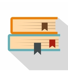 Two books icon flat style vector