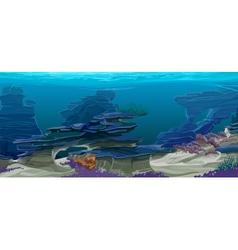 Underwater topography vector