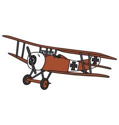 Vintage germany biplane vector image vector image