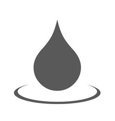 water drop icon simple vector image