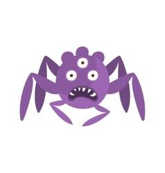 Purple spider shaped aggressive malignant bacteria vector