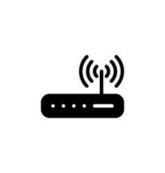 Router icon flat vector