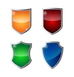 Set of shields protection web security antivirus vector image