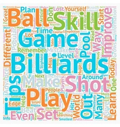 Play billiards how to improve your skill set text vector