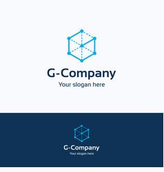 g company logo vector image