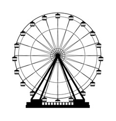 ferris wheel icon vector image