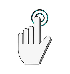 white background with hand cursor pointer vector image