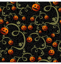 Halloween spooky pumpkins seamless pattern vector