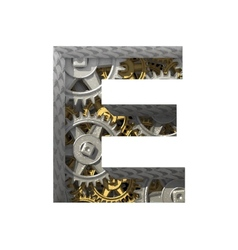 Gears cutted figure e paste to any background vector