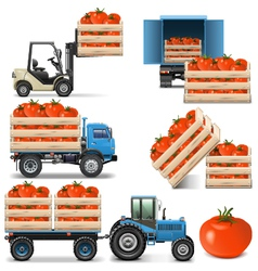 Agricultural Icons Set 2 vector image