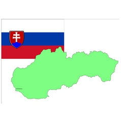 6215 slovakia map and flag vector image