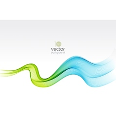 Abstract colorful transparent wave background vector