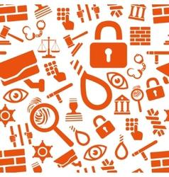 prison seamless pattern vector image