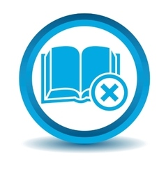 Remove book icon blue 3d vector