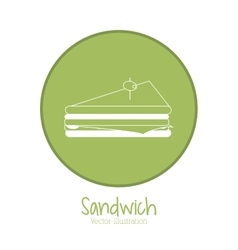Sandwich design fast food  menu vector