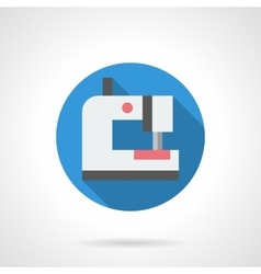 Electrical sewing round flat icon vector