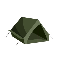 Tent icon cartoon style vector
